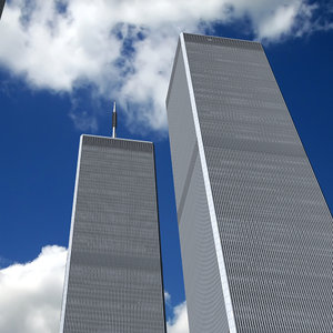 3d model twin towers world trade