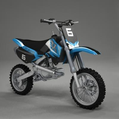3d model of pit bike