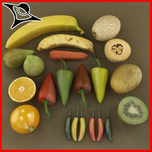 vegetables fruits 3d max