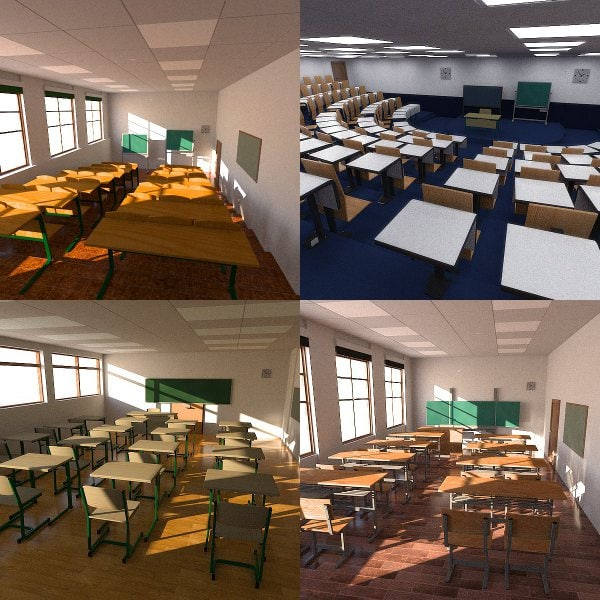 3d model classrooms interiors