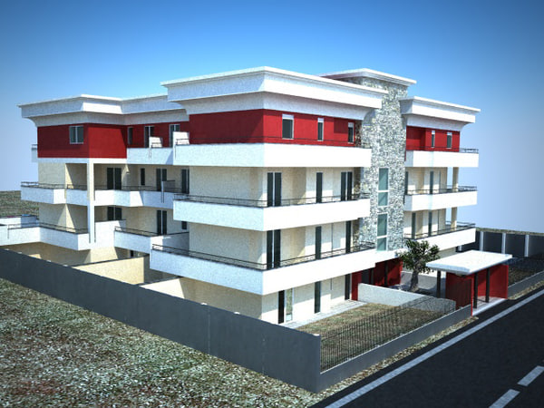 palace flats streets 3d model