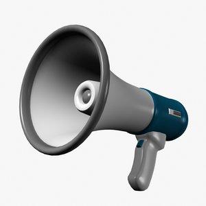 3d model of bullhorn loudspeaker