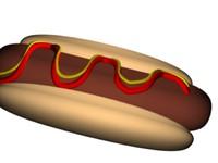 3d max hot dog