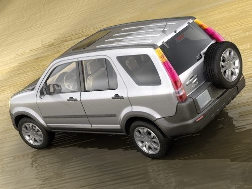 honda cr-v crv suv 3d model