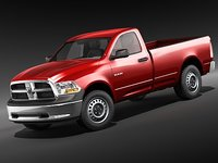 3d 3ds dodge ram 2009 regular