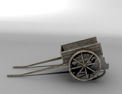 3ds max medieval cart