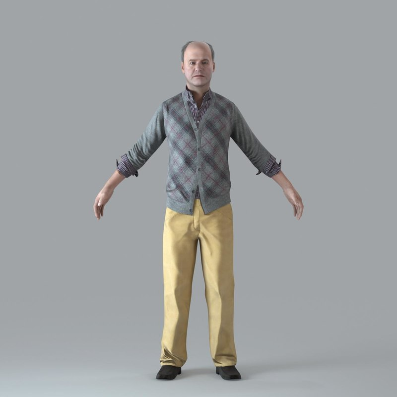 3ds max character human