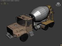 free concrete mixer truck 3d model