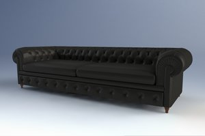chester sofa poltrona frau 3d model