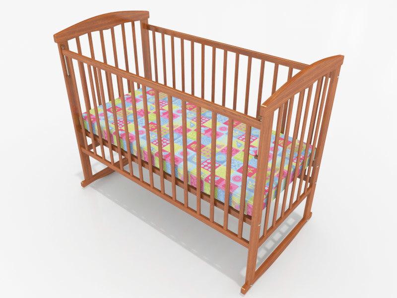 baby cot bed 3d max