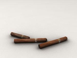 3 cigars 3d model