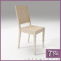 kitchen room chair wood 3d max