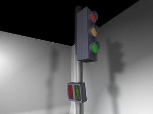 traffic lights 3d 3ds