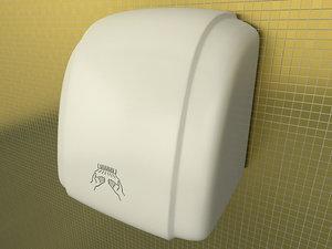 hand dryer 3d model