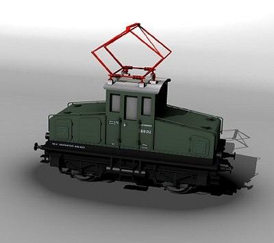 train engine e69 3d model