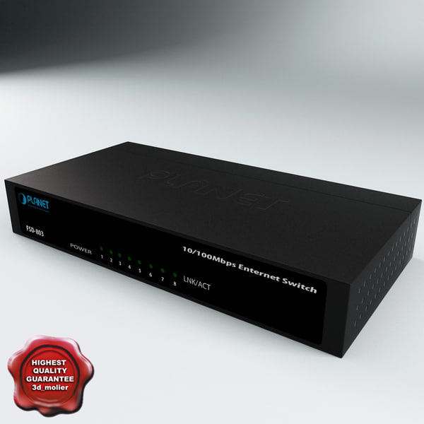 ethernet switch planet 3d max