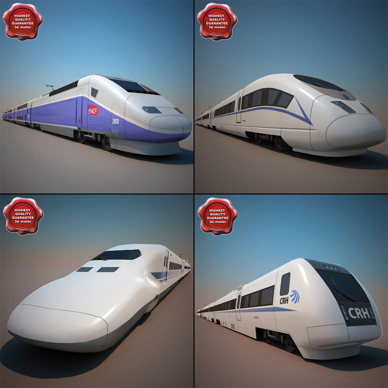 3d high-speed trains v3 model