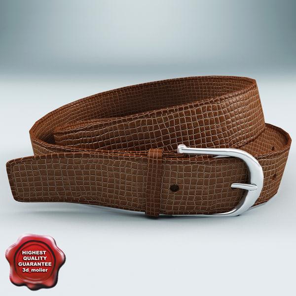 3dsmax leather belt v1
