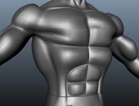 3d model of muscular man body male
