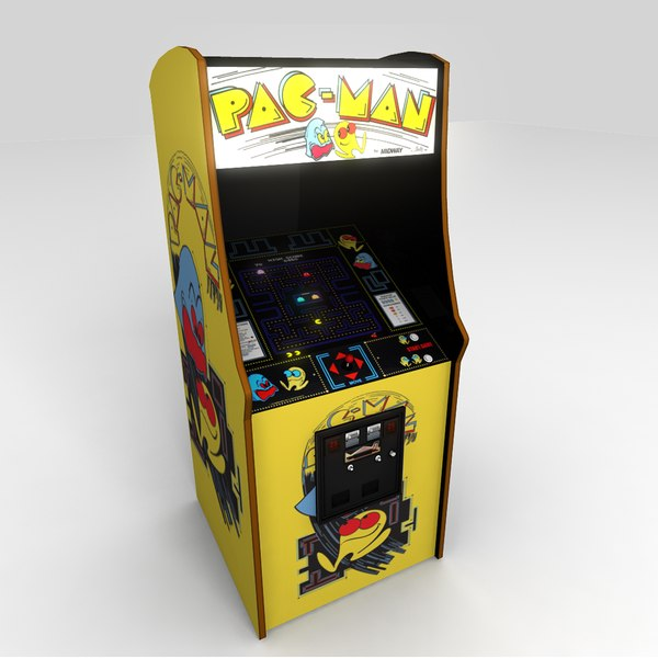 3d model pac man arcade