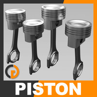 3d engine piston model