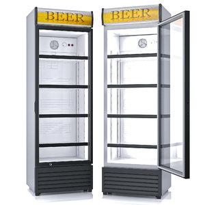 refrigerator glass beverage 3d max
