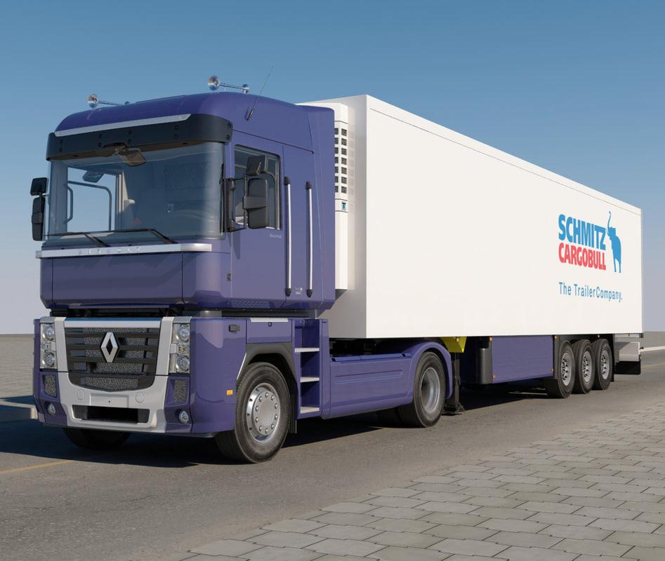 renault magnum trailer 3d model
