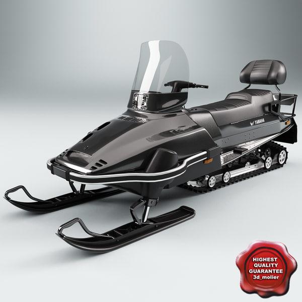 max realistic snowmobile yamaha viking