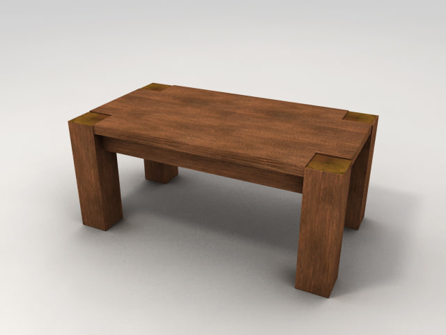 maya simple wooden table