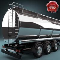 3d tank trailer model