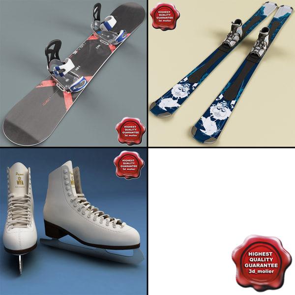 3d model winter sports equipment v1