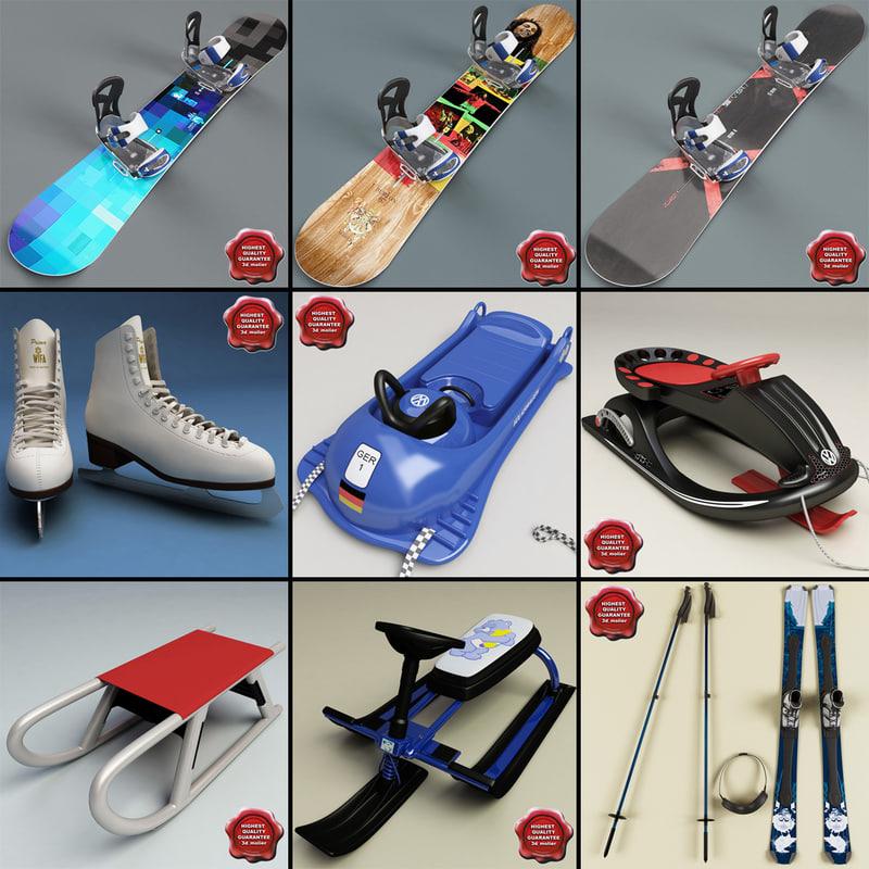 3dsmax winter sports equipment v2
