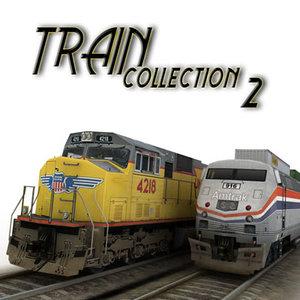 amtrak train 3d max