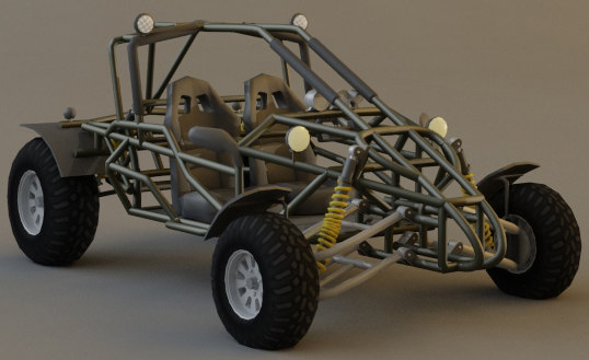 3d buggy desert model