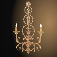 Chelini Classic Baroque empire wall lamp sconce light