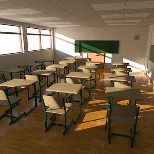 3d model classroom class room