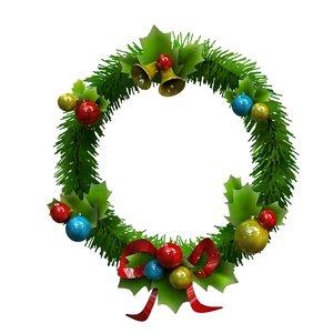 3d christmas garland