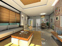 3d model of interior design
