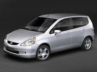 honda fit jazz 2007 3d max