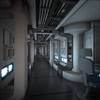 Spaceship Corridor HD