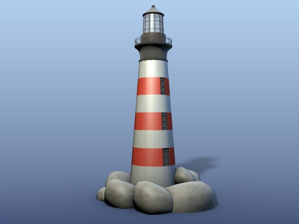 lighthouse blender materials 3d model
