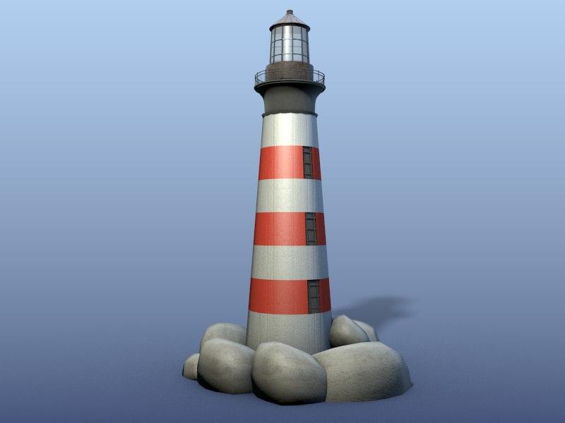 lighthouse blender materials 3d model