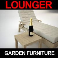 lounger 3d max