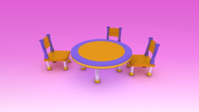 cute furniture children 3d 3ds