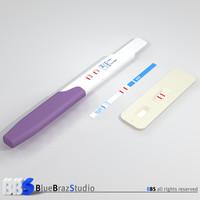 pregnancy test 3d model