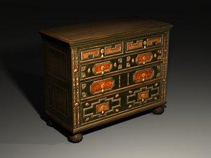 antique cabinet 3ds