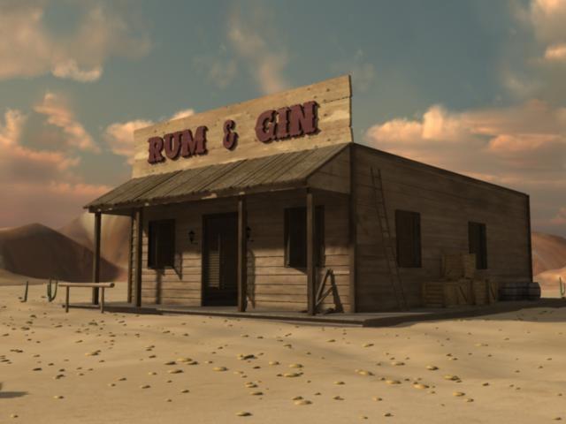 old western saloon 3d obj