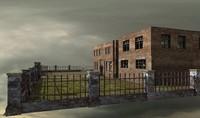 derelict sanatorium 3d model