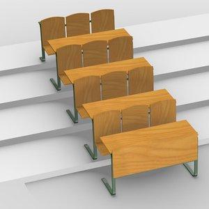 school chair 3d 3ds