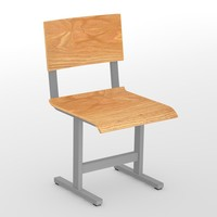 3d model of school chair